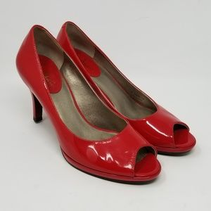 Cole Haan Peep Toe patent Leather shoes D30394